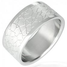 Oceľový prsteň - nepravidelný dlaždicový vzor