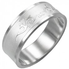 Prsteň z chirurgickej ocele - lesklý ornament