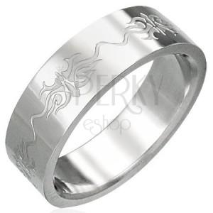 Prsteň z chirurgickej ocele s ornamentmi