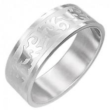 Oceľový prsteň TRIBAL SYMBOL