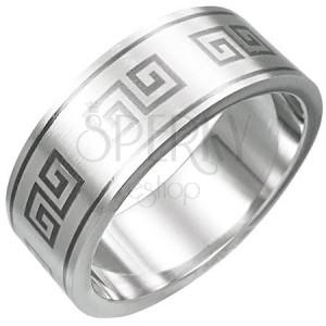 Prsteň z chirurgickej ocele - grécky motív
