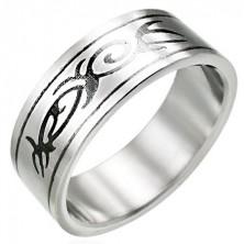 Oceľový prsteň s motívom TRIBAL