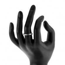 Strieborný prsteň 925, zvlnená línia, lesklý hladký povrch
