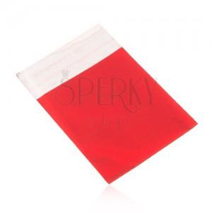 Celofánový sáčok na darček, matný povrch, červená farba