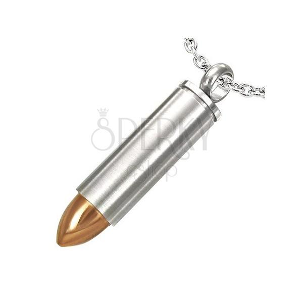 Prívesok z ocele náboj s hrotom zlatej farby
