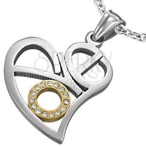 Prívesok z ocele vyrezávané srdce