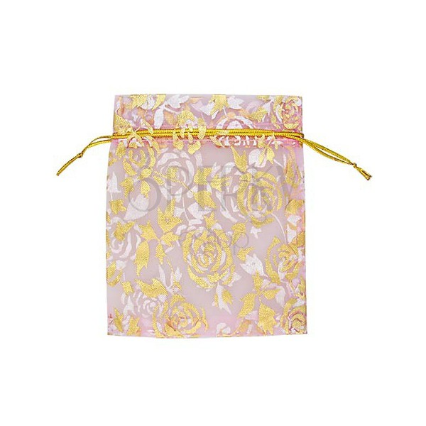 Darčekové balenie - plátené vrecúško, ružové