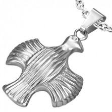 Prívesok z ocele - orol s roztiahnutými krídlami