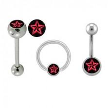 Sada piercingov - logo Červená hviezda