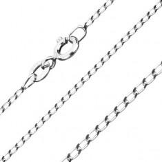 Retiazka zo striebra 925 - hladké podlhovasté očká, 1 mm