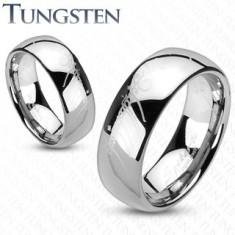 Tungstenový prsteň - obrúčka, hladký lesklý povrch, motív Pána prsteňov, 8 mm