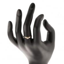 Zlatý prsteň 585 - ligotavé srdiečko so vsadeným okrúhlym zirkónom
