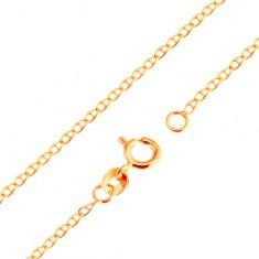 e778855fc Šperky eshop - Zlatá 9K retiazka - malé ploché lesklé očká predelené  paličkou, 500 mm GG171.14