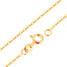 96e8f6138 Šperky eshop - Retiazka zo žltého 9K zlata - hladké oválne očká, vzor Rolo,  500 mm GG171.11