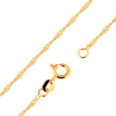 c7965229e Šperky eshop - Retiazka zo žltého 9K zlata - lesklé ploché oválne očká,  špirála, 500 mm GG172.06