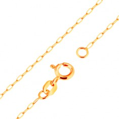 890dc3a66 Šperky eshop - Zlatá retiazka 9K - kolmo spájané ploché oválne články, 500  mm GG172.07