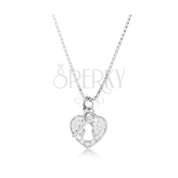 Strieborný 925 náhrdelník - retiazka s príveskom 78391a8df0c