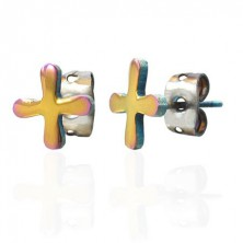 Farebné náušnice z ocele TABONO symbol