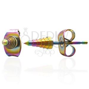 Náušnice z ocele - anodizované špice