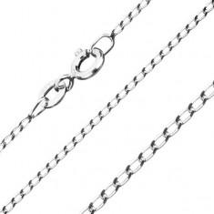Šperky eshop - Retiazka zo striebra 925, hladké oválne očká, 1,3 mm S29.15