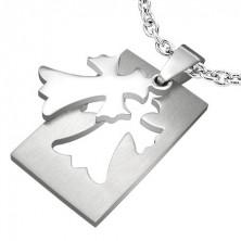 Prívesok z ocele - Fleur De Lis Cross
