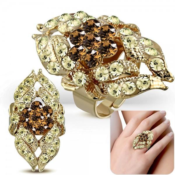 Veľký prsteň v zlatom odtieni a12f1dd3d43