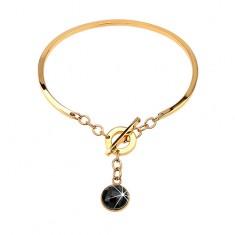 Šperky eshop - Náramok z ocele 316L zlatej farby 7b3177899d8