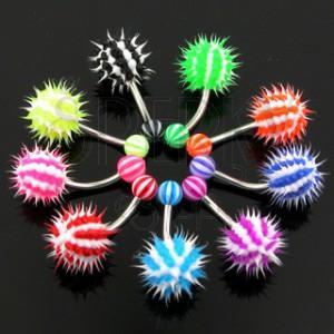 Farebný piercing do pupku - ježko