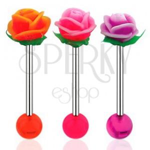 Piercing do jazyka UV ružička