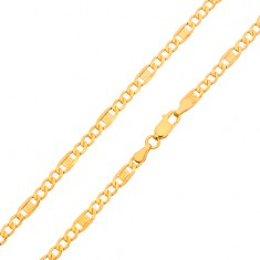 Zlatá retiazka 585 - tri oválne očká beb5c2a7d9a