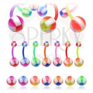 Piercing do pupka Multicolor Balla
