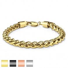 afb48c831 Šperky eshop - Náramok z ocele 316L, husto prepletené oválne očká, rôzne  farby AB04.08 13 - Farba: Čierna
