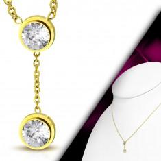 Šperky eshop - Náhrdelník zlatej farby fedfc23bea5