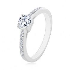 Zásnubný prsteň zo striebra 925 4e80737ea70