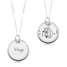 f78c131bf Šperky eshop - Strieborný 925 náhrdelník, retiazka a okrúhly prívesok -  PANNA SP18.11