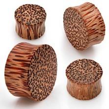 Plug do ucha - kokosové drevo