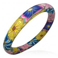 Náramok Fimo farby kvetov Hippies