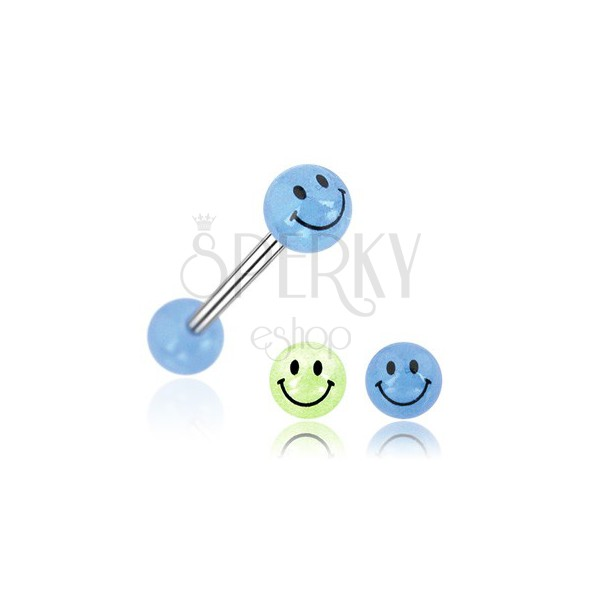 Piercing do jazyka gulička úsmev