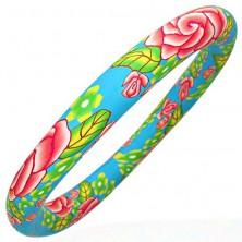 Fimo náramok s motívom pastelových farieb