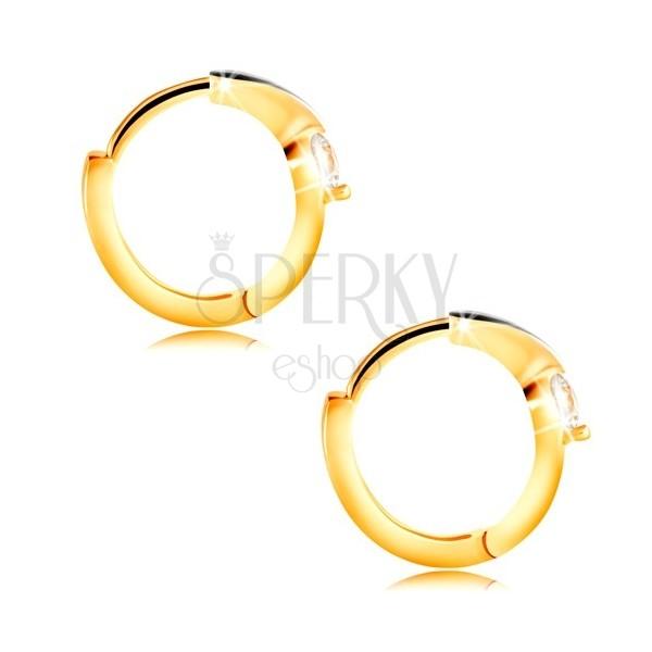 ... Zlaté okrúhle náušnice 585 - úzka línia z bieleho zlata 306607ff061
