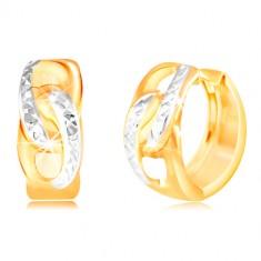 Šperky eshop - Zlatý prsteň 585 - číry oválny zirkón a dva okrúhle ... a3799c61e33