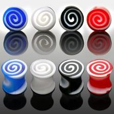 Plug do ucha - farebné špirály