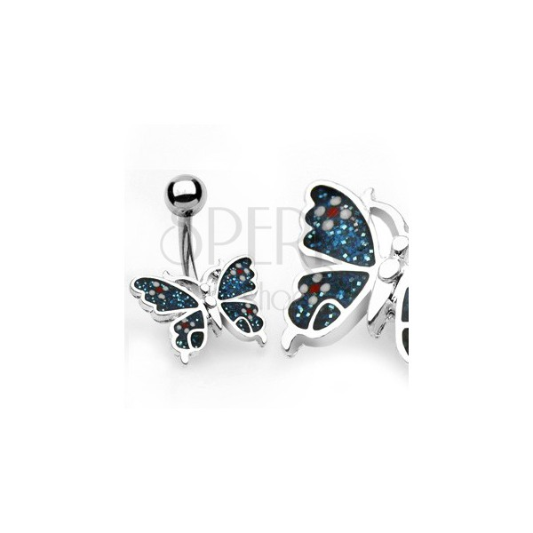 Piercing do pupka motýľ, kvety