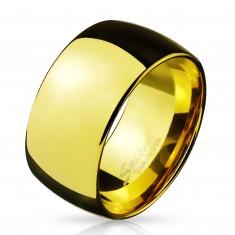 Širšia oceľová obrúčka v zlatom farebnom prevedení, 11 mm