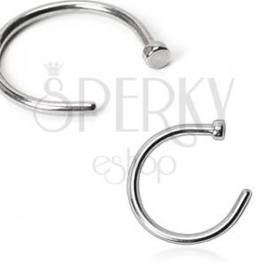 Piercing do nosa z ocele - krúžok