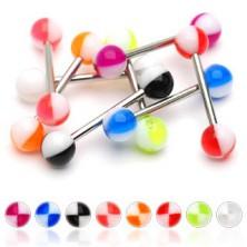Piercing do jazyka farebné štvrťky