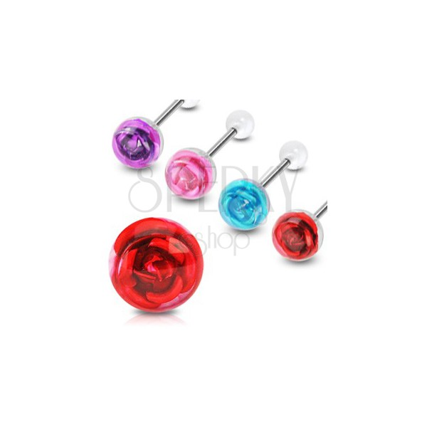 Piercing do jazyka ruža