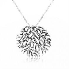 a4c00dc10 Šperky eshop - Náhrdelník zo striebra 925 - rozkonárený koral s patinou,  špirálovitá retiazka S18.27