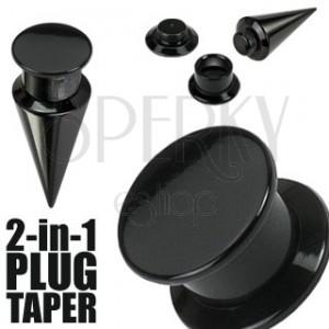 Taper a plug 2 v 1 čierny