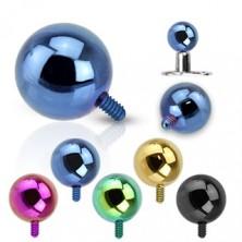 Gulička do implantátu z ocele 316L - anodizovaný povrch, rôzne farby, 5 mm